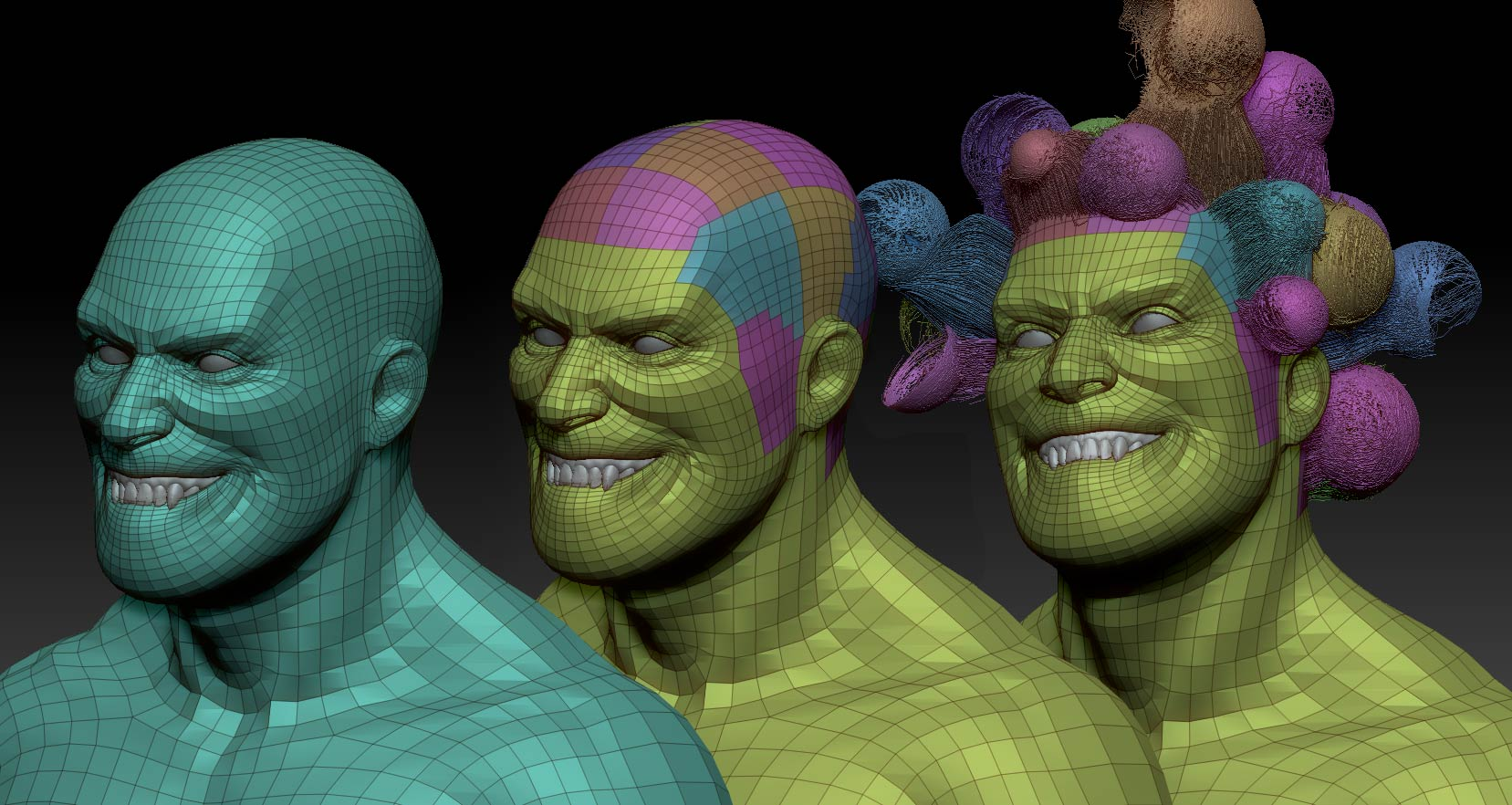 Zbrush_Character_FiberMesh_Polygroups