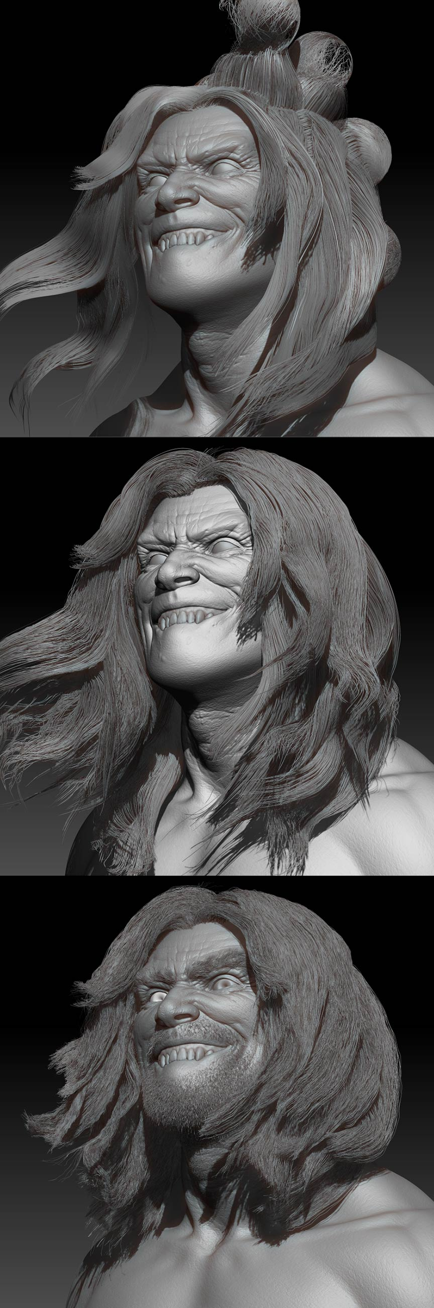 Zbrush_Character_Hair-Sculpt_Process