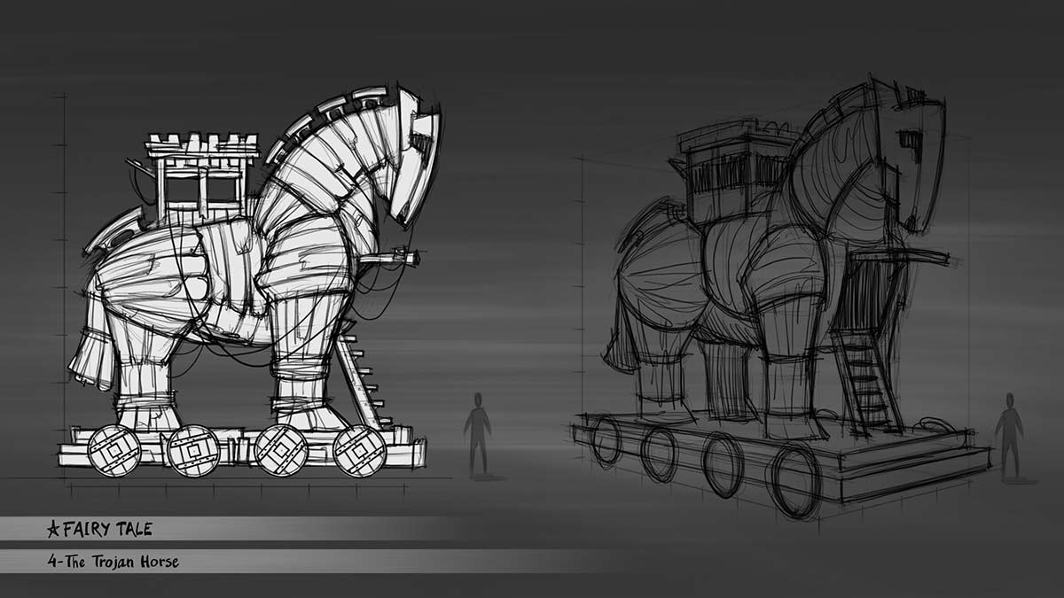 Concept sketch, float design
