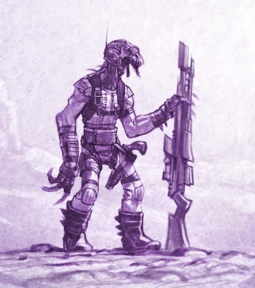 Desert trooper alien character