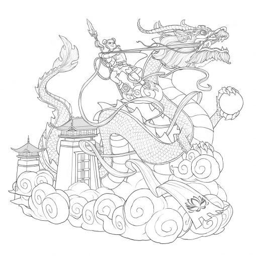 dibujo dragon chino