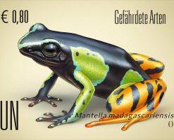 ilustracion cientifica sellos ONU, especies en peligro 2018