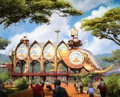Theme park concept art illustration